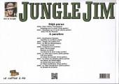 Verso de Jungle Jim (Jim la jungle) -1941- 1941 -Sabotage sur le canal (2ème partie) - Dans l'île de Thorson