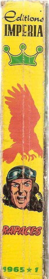 Verso de Rapaces (Impéria) -Rec10- Collection reliée N°10 (du n°73 au n°80)