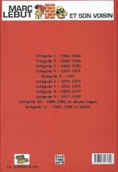 Verso de Marc Lebut et son voisin -Int11- Intégrale 11: 1982-1986 et inedits