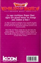Verso de Dragon Quest - Emblem of Roto -6- Tome 6