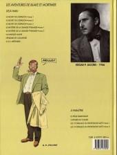 Verso de Blake et Mortimer (Les Aventures de) -3b1990- Le Secret de l'Espadon - Tome 3