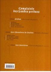 Verso de Complainte des Landes perdues -5ES2- Moriganes