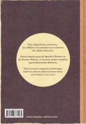 Verso de Sherlock Holmes - La BD dont vous êtes le héros -2- Quatre enquêtes de Sherlock Holmes