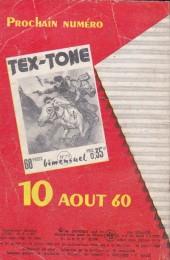 Verso de Tex-Tone -78- Les Mains dans les poches...