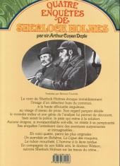 Verso de Quatre enquêtes de Sherlock Holmes