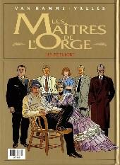 Verso de Les maîtres de l'Orge -INTFL4- Frank, 1997 / Les Steenfort