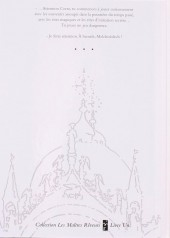Verso de Corto Maltese -7TL- Fable de Venise
