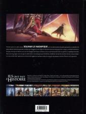 Verso de Ils ont fait l'Histoire -7- Soliman le Magnifique