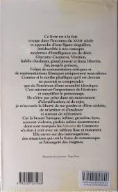 Verso de (AUT) Pratt, Hugo - Casanova Un voyage libertin