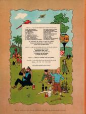 Verso de Tintin (Historique) -15B38- Tintin au pays de l'or noir