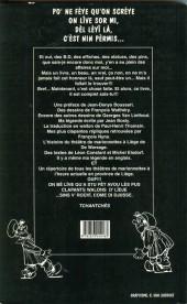 Verso de (AUT) Walthéry -7- Li vrê lîve d'a tchantchès