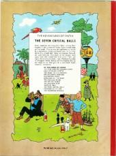 Verso de Tintin (The Adventures of) -13- The Seven Crystal Balls