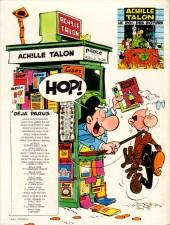 Verso de Achille Talon -3c83- Achille Talon persiste et signe !