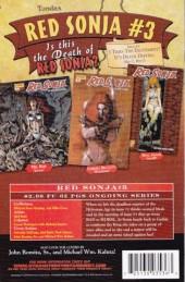 Verso de Red Sonja (2005) -2- The flaming skulls / winds of doom