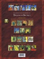 Verso de Le triangle secret - Hertz -5- La troisième mort de l'Empereur