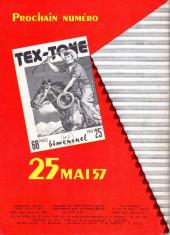 Verso de Tex-Tone -1- Les voleurs du rodéo