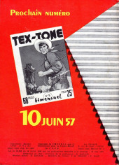 Verso de Tex-Tone -2- Les pillards de Ranches