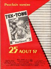 Verso de Tex-Tone -7- La vendetta dans la vallée