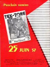 Verso de Tex-Tone -3- Le hors-la-loi repenti