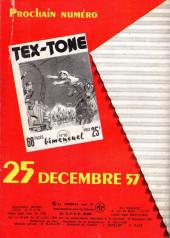 Verso de Tex-Tone -15- La protégée des peaux rouges