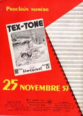 Verso de Tex-Tone -13- Retour au Texas