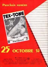 Verso de Tex-Tone -11- Les voleurs de la frontière