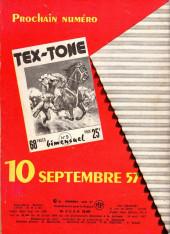 Verso de Tex-Tone -8- Les pillards Indiens
