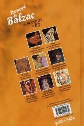 Verso de Poèmes en bandes dessinées - Honoré de Balzac - Les Nouvelles en BD