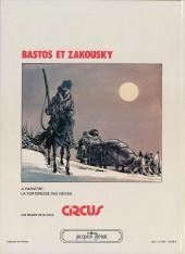 Verso de Bastos et Zakousky -1- Rendez-vous à Kobs