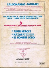 Verso de Ka-Zar (Vol. 1) -1- Furia