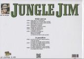 Verso de Jungle Jim (Jim la jungle) -1945- Strips hebdomadaires 1945