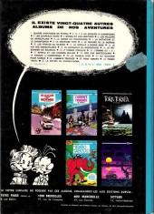 Verso de Spirou et Fantasio -1c1975- 4 aventures de spirou et fantasio