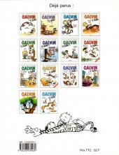 Verso de Calvin et Hobbes -15- Complètement surbookés !