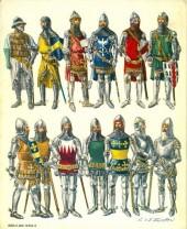 Verso de (AUT) Funcken -U2 1- Le costume, l'armure et les armes au temps de la chevalerie - du huitième au quinzième siècle