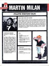 Verso de Martin Milan (2e Série) -1- Mille ans pour une agonie