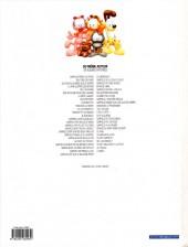 Verso de Garfield -48a2009- Au travail !