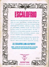 Verso de Escalofrio presenta -2- Tales of the Zombie 1
