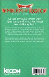 Verso de Dragon Quest - Emblem of Roto -9- Tome 9
