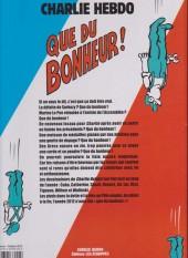Verso de Charlie Hebdo - Une année de dessins -2012- Que du bonheur !