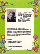 Verso de Chlorophylle (Série verte) -1- Chlorophylle et les conspirateurs
