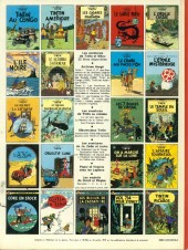 Verso de Tintin (Historique) -7C3bis- L'Ile Noire