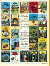 Verso de Tintin (Historique) -13C3ter- Les 7 boules de cristal