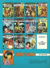 Verso de Yoko Tsuno -6a1982- Les 3 soleils de Vinéa