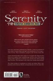 Verso de Serenity (Dark Horse Comics - 2005) -INT01b- Those left behind