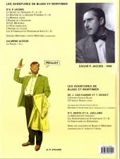 Verso de Blake et Mortimer (Les Aventures de) -2c2008- Le Secret de l'Espadon - Tome 2