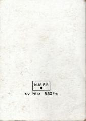 Verso de La route de l'Ouest -Rec15- Album N°15 (du n°43 au n°46)
