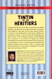 Verso de (AUT) Hergé -20- Tintin et les héritiers