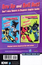 Verso de Free Comic Book Day 2015 - Transformers: Robots in Disguise #0