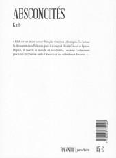 Verso de (AUT) Klub - Absconcités