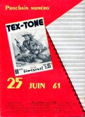 Verso de Tex-Tone -99- la cachette du seven-cree